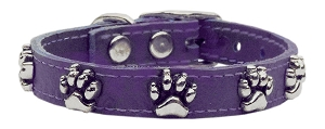 Faux Ostrich Paw Leather Purple 10